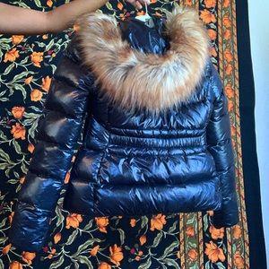 zara down puffer jacket with detachable hood